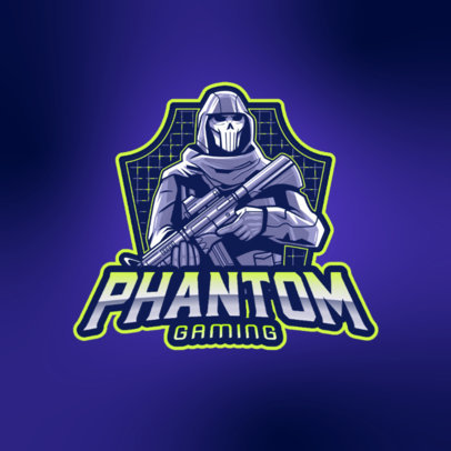 Gaming Logo Maker with a Character Inspired by Reaper from Overwatch 4189l