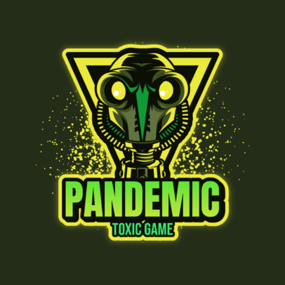 Gaming Logo Maker Featuring a Tough Character with a Gas Mask 4197