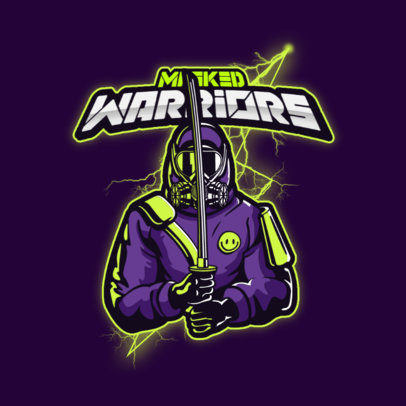 Pandemic-Themed Gaming Logo Maker Featuring Post-Apocalyptic Warriors 4200