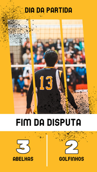 Sports-Themed Instagram Story Creator for a Volley Match Scoreboard 3752b-el1