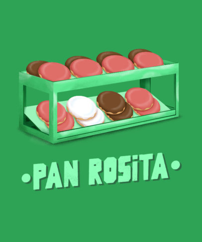 T-Shirt Design Creator Featuring a Traditional Mexican Pastry 3547d