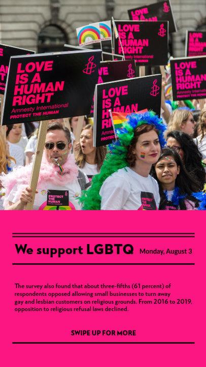 LGBT-Themed Instagram Story Design Maker to Share a News Story 3756c-el1