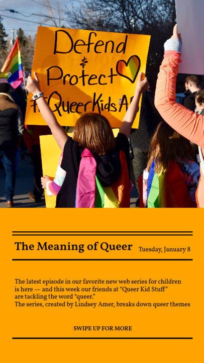 Instagram Story Design Maker to Share LGBT-Related News 3756e-el1