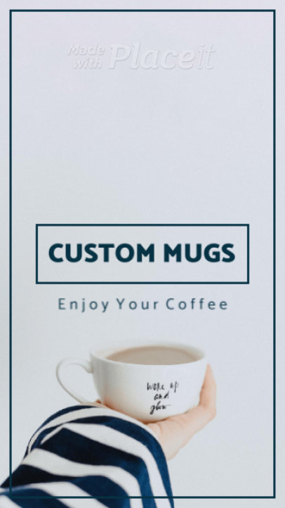 Instagram Story Video Template for a Customized Mugs Store Ad 905a 3073 el1