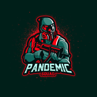Logo Creator Featuring a Futuristic Shooter from a Pandemic World 4200g