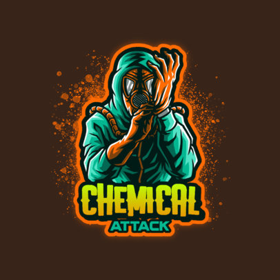 Logo Creator for a Gaming Squad with a Character Ready for Toxic Combat 4197f