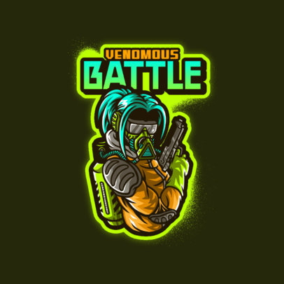Logo Maker for Gaming Teams Featuring a Shooter with a Chemical Mask 4197j