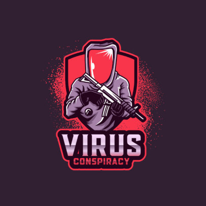 Logo Generator Featuring a Character in a Chemical Suit Holding a Rifle 4204k