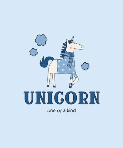 Cute Kids T-Shirt Design Creator for Unicorn Fans 3764b-el1