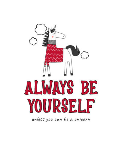 T-Shirt Design Maker with an Illustration of a Unicorn and a Quote 3764e-el1