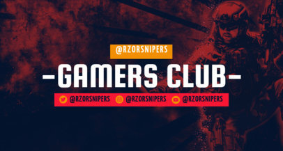 Twitch Banner Generator for a Gaming Channel with a Warrior Graphic 3533e