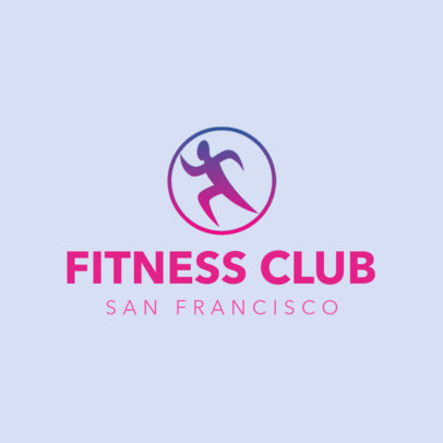 Fitness Club Logo Maker Featuring Gradient Graphics 4222