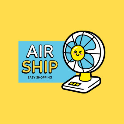 Dropshipping Logo Generator with a Cute Fan Clipart 3768e-el1