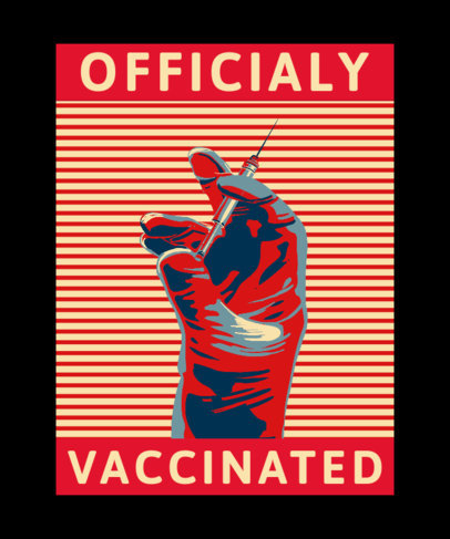 Illustrated T-Shirt Design Creator for an Officially Vaccinated Campaign 3552f
