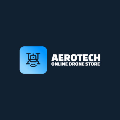 Tech Logo Maker for a Dropshipping Store Featuring a Drone Icon 3770e-el1