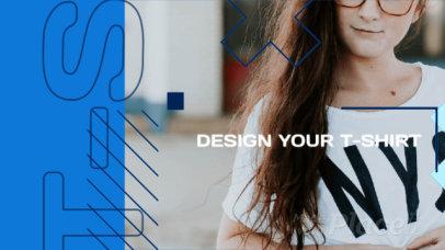 Facebook Cover Video Maker for a Custom T-Shirts Website 1925c-3087