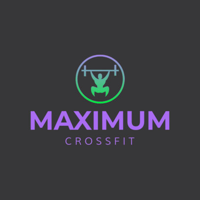 Logo Maker for a Crossfit Gym with a Simple Icon 4222f