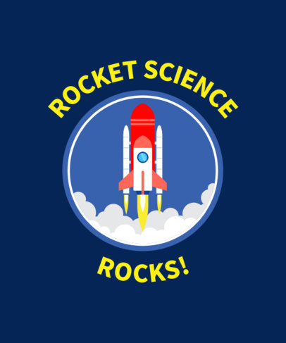 T-Shirt Design Maker for Science Enthusiasts with a Rocket Graphic 42e