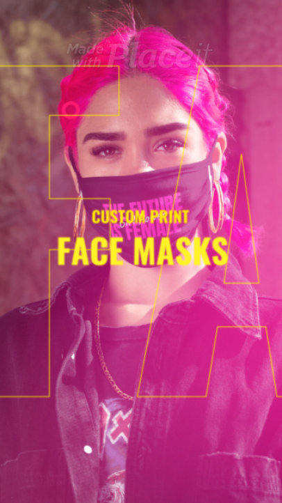 Instagram Story Video Generator for a Custom Face Masks Ad 1713a 3079-el1