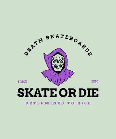 Skating T-Shirt Design Maker with Monster-Themed Graphics 4227