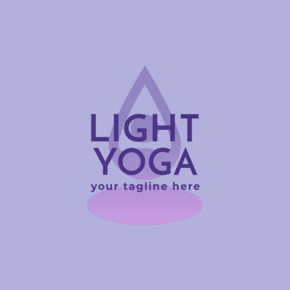 Yoga Logo Creator Featuring a Minimal Abstract Graphic 1360c-4172