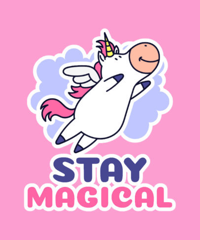 T-Shirt Design Maker Featuring a Cute Alicorn Cartoon 3576f