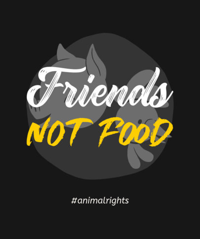T-Shirt Design Template Featuring an Animal Rights Theme 23e