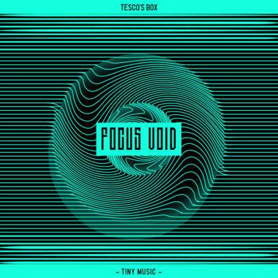 Optical-Illusion-Themed Album Cover Design Creator for an EDM Artist 3579f