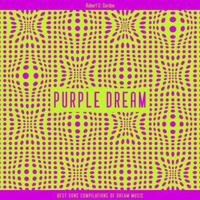 Trippy Album Cover Design Maker for an Electro House Musician 3579g