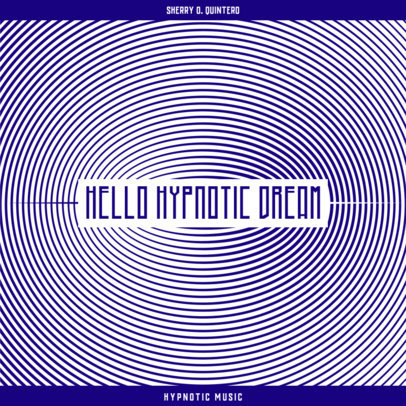 Abstract Album Cover Design Creator for a Hypnotic Music Collection 3579i