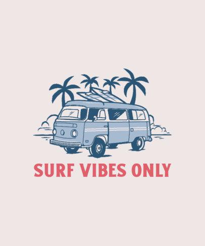 T-Shirt Design Generator for Surfers Featuring a Vintage Camper Van Illustration 3567b