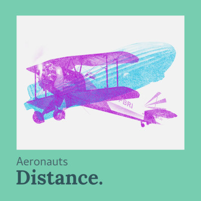 Album Cover Creator for an Indie Band Featuring a Plane Graphic 3570b