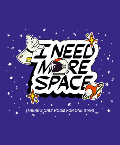 Illustrated T-Shirt Design Generator with a Space Theme 3777g
