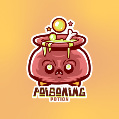 Gaming Logo Maker Featuring a Cauldron Cartoon 4228c