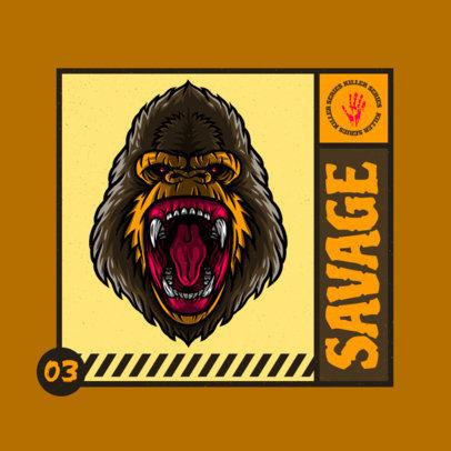 Cool Gaming Logo Maker Featuring a Fierce Gorilla Illustration 4229b