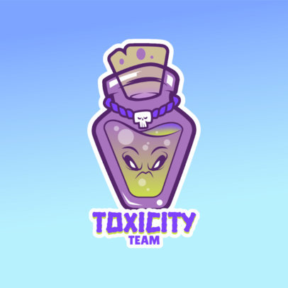 Cartoonish Logo Template Featuring a Poison Bottle Clipart 4228g