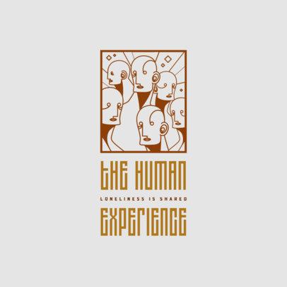Online Logo Maker Featuring Art-Deco Style Illustrations 4235c