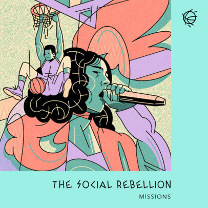 Album Cover Creator for a Hip-Hop Artist Featuring Street Culture Graphics 4226c