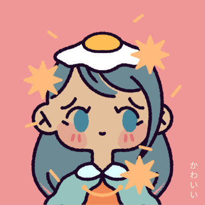 Chibi Avatar Logo Creator with a Sweet Girl Character 4238b