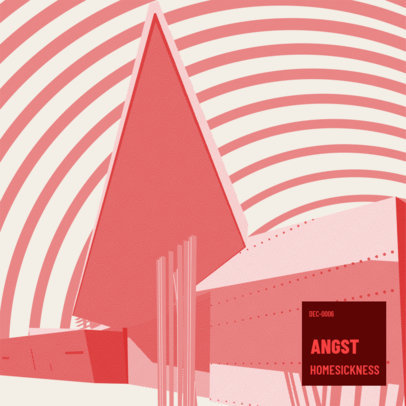 Album Cover Design Template for an Avant-Garde Jazz Group 3571f
