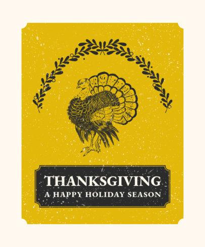 T-Shirt Design Creator with a Vintage Illustration of a Turkey 2951b-el1