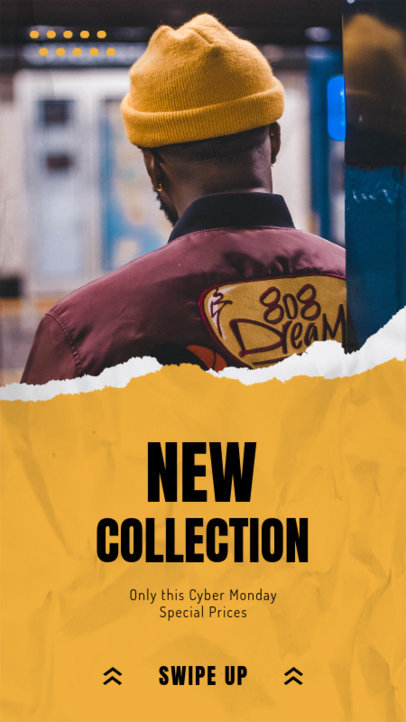Instagram Story Maker for Fashion Brands Featuring a New Collection Announcement 3025a-el1