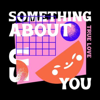 Pop Album Cover Template Featuring Contemporary Text Design 4257