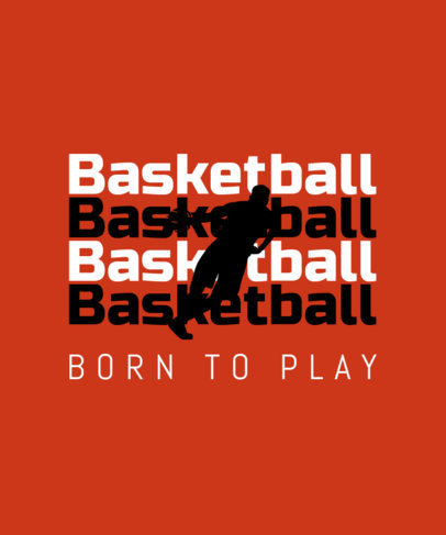 Basketball T-Shirt Design Generator Featuring a Bold Typography 40e
