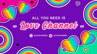 Colorful Twitch Banner Maker Celebrating LGBTQ Pride Month 3586k