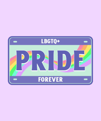 Colorful T-Shirt Design Creator for Pride Month with a License Plate Theme 3595d