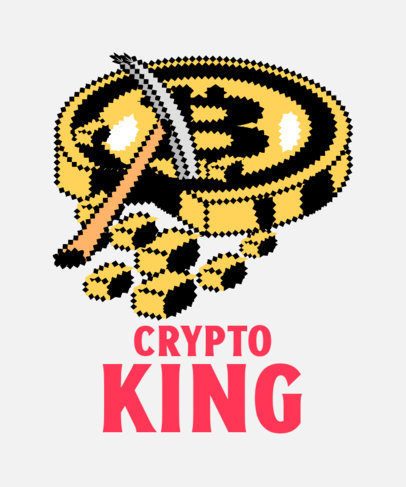 8-bit-Style T-Shirt Design Generator Featuring for Crypto Miners 3583c