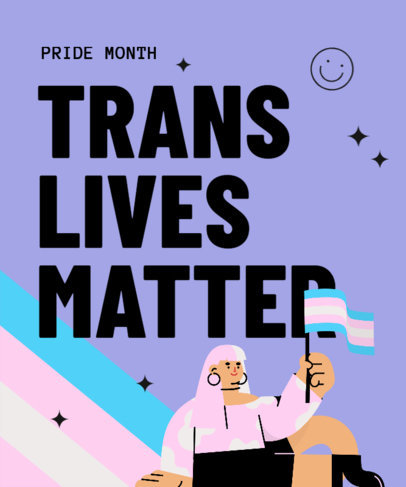 LGBTQ-Themed T-Shirt Design Maker for a Trans Visibility Campaign 3592h