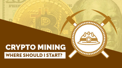 YouTube Thumbnail Design Generator for a Cryptocurrency Mining Course 3585b