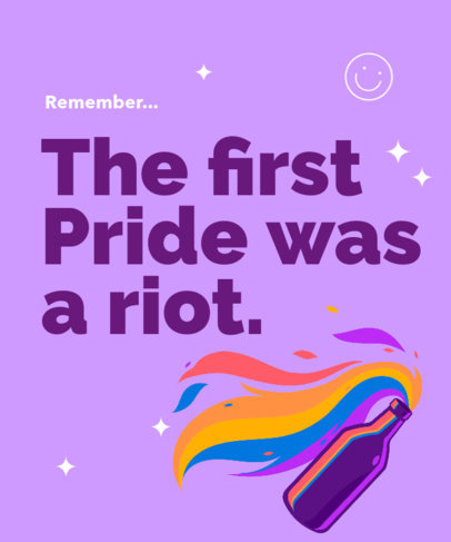 T-Shirt Design Template Featuring a Rebellious LGBTQ Quote 3592e